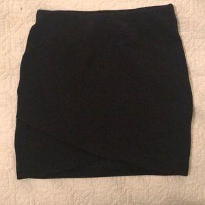 H&M Black Asymmetrical Mini Skirt